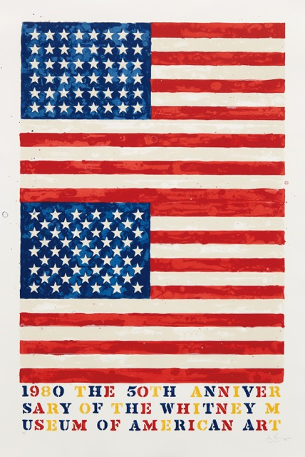 Jasper Johns - Two Flags (Whitney Museum of American Art 50th Anniversary)