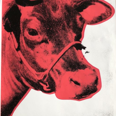 la biennale red cow by andy warhol