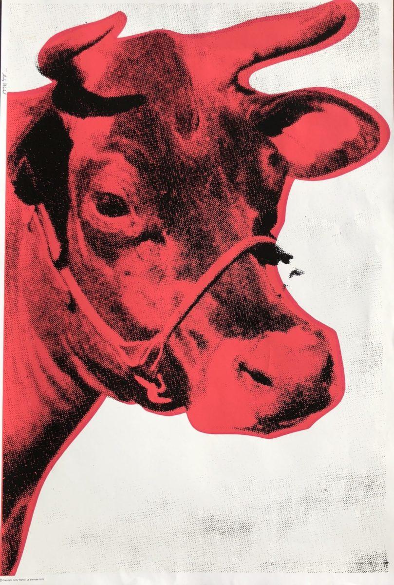 la biennale red cow by andy warhol