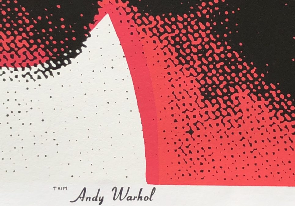 la biennale red cow detail by andy warhol