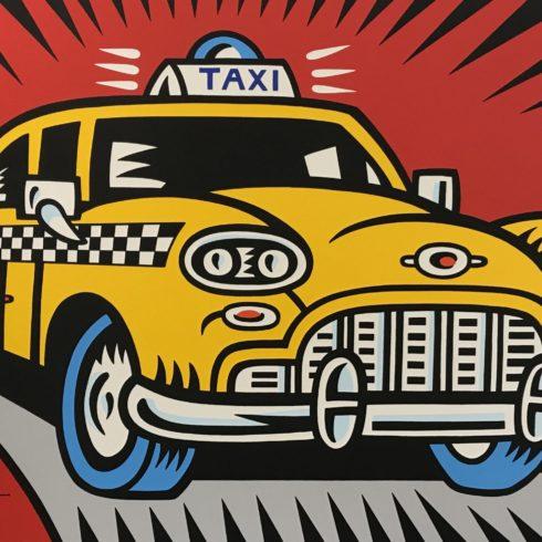 burton morris hey taxi