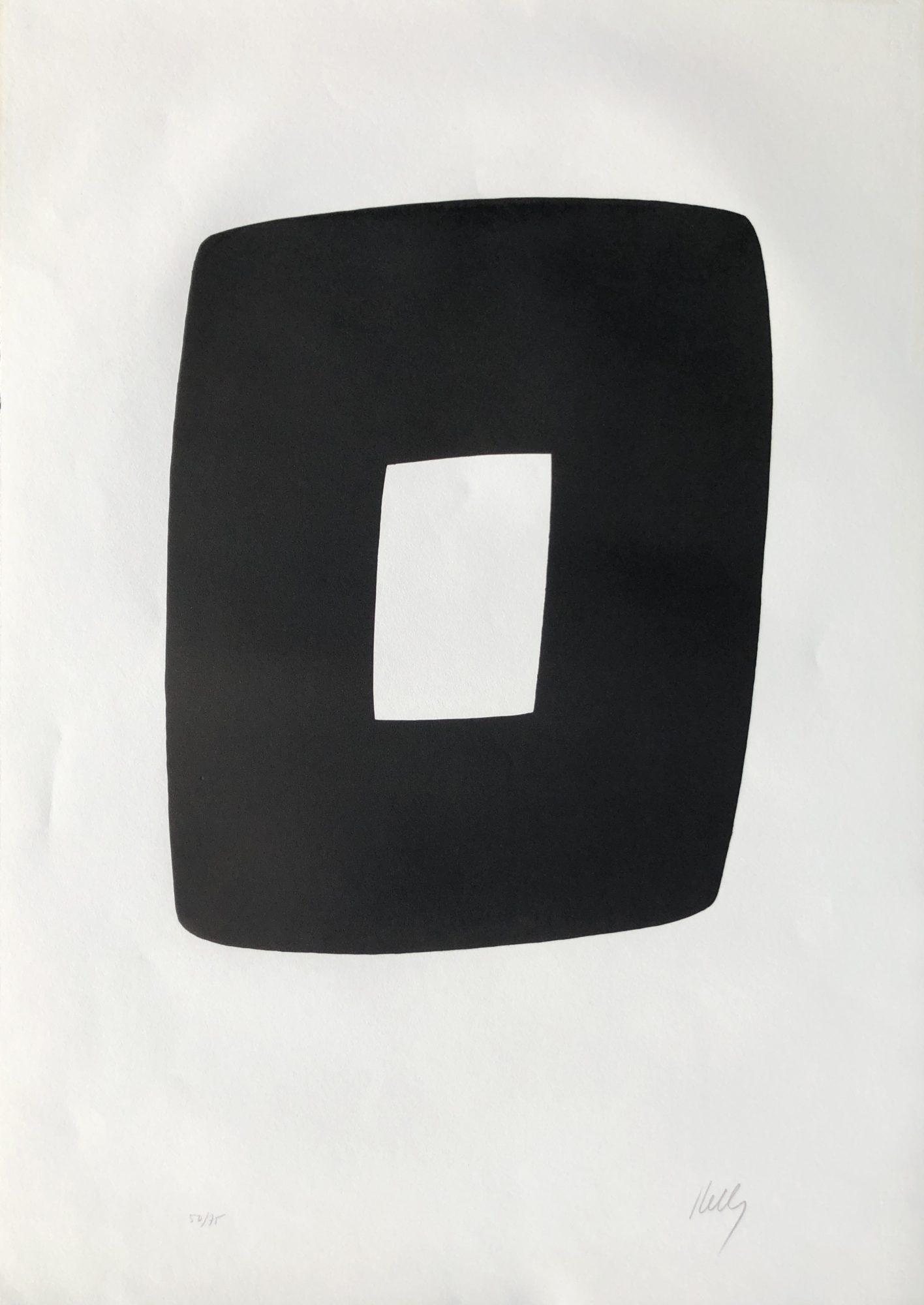 Ellsworth Kelly - Black and White A.9