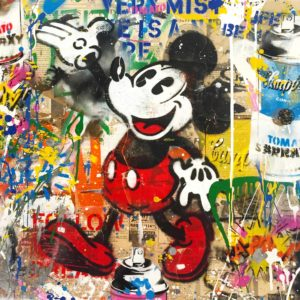 Mr. Brainwash - Mickey (22 x 22)