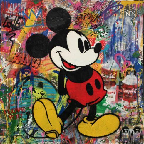 Mr. Brainwash - Mickey (48 x 48)