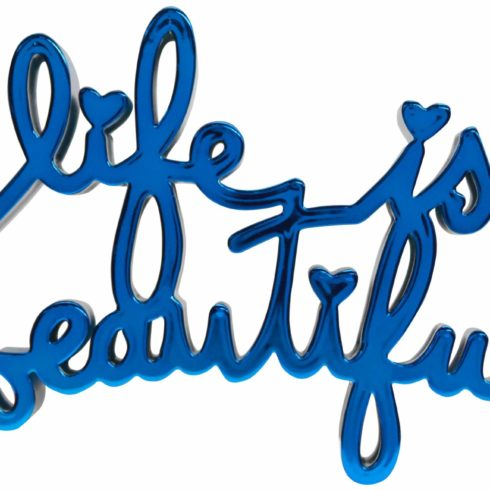 Mr. Brainwash - Life is Beautiful - Hard Candy Blue