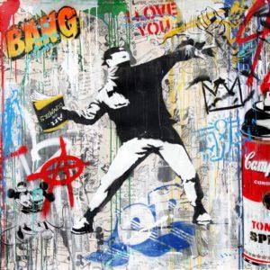 Mr. Brainwash - Banksy Thrower