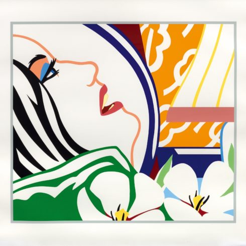 Tom Wesselmann - Bedroom Face with Orange Wallpaper