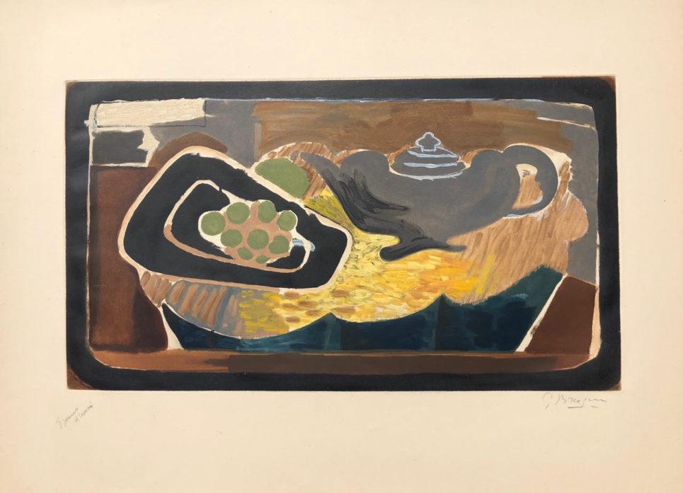 Georges Braque - Theiere et Raisins