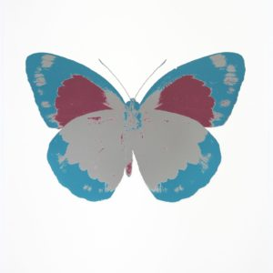 Damien Hirst The Souls II - Silver Gloss - Topaz - Loganberry Pink
