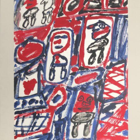 Jean Dubuffet - Site Avec 5 Personnages
