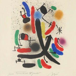 joan miro lithograph I m855 by joan miro