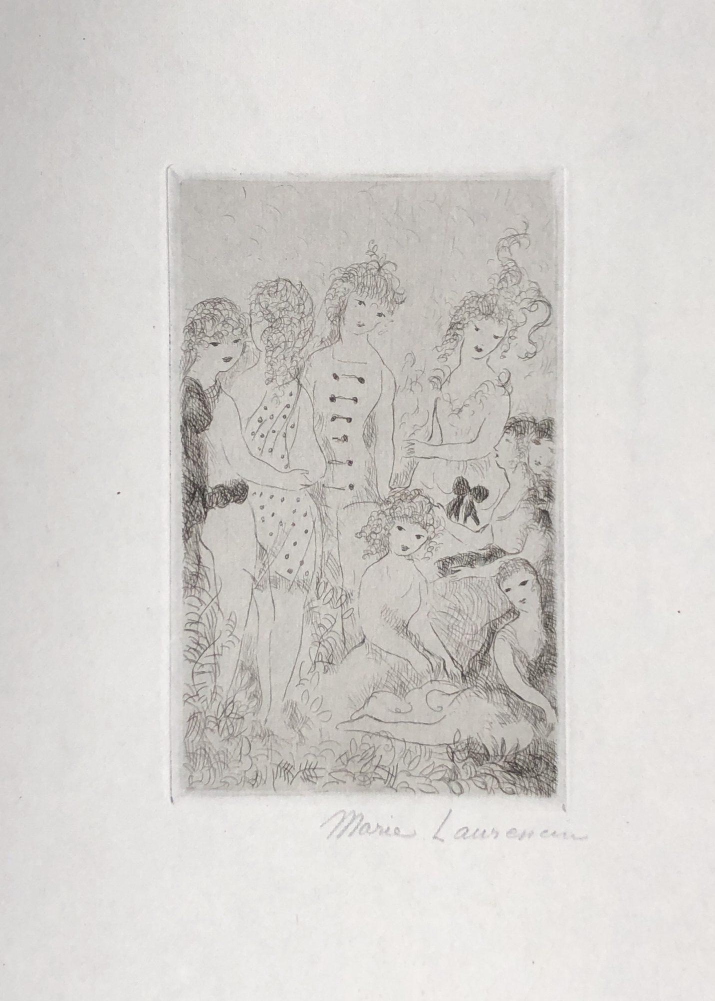 huit filles dans le pre by marie laurencin