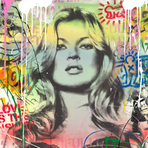 Mr. Brainwash - Kate Moss (22 x 22)
