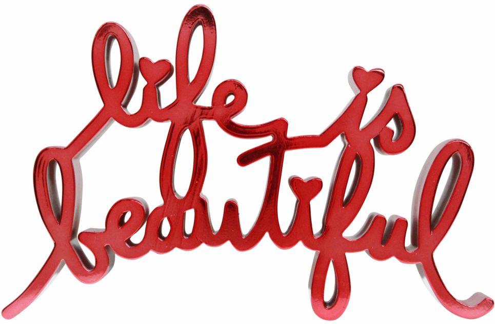 Mr. Brainwash - Life is Beautiful - Hard Candy Red