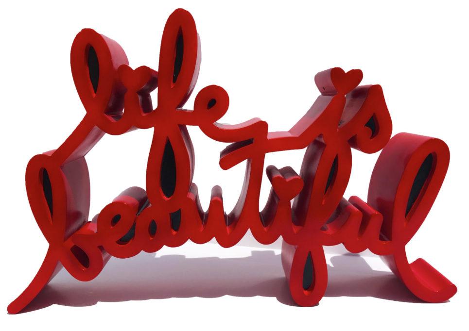 Mr. Brainwash - Life is Beautiful - Red (Medium)