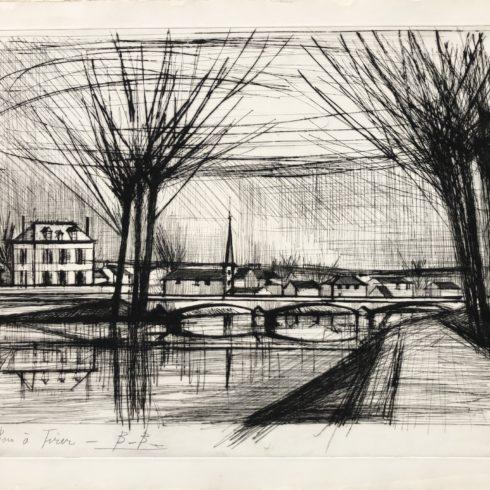Bernard Buffet - Canal a Soissons