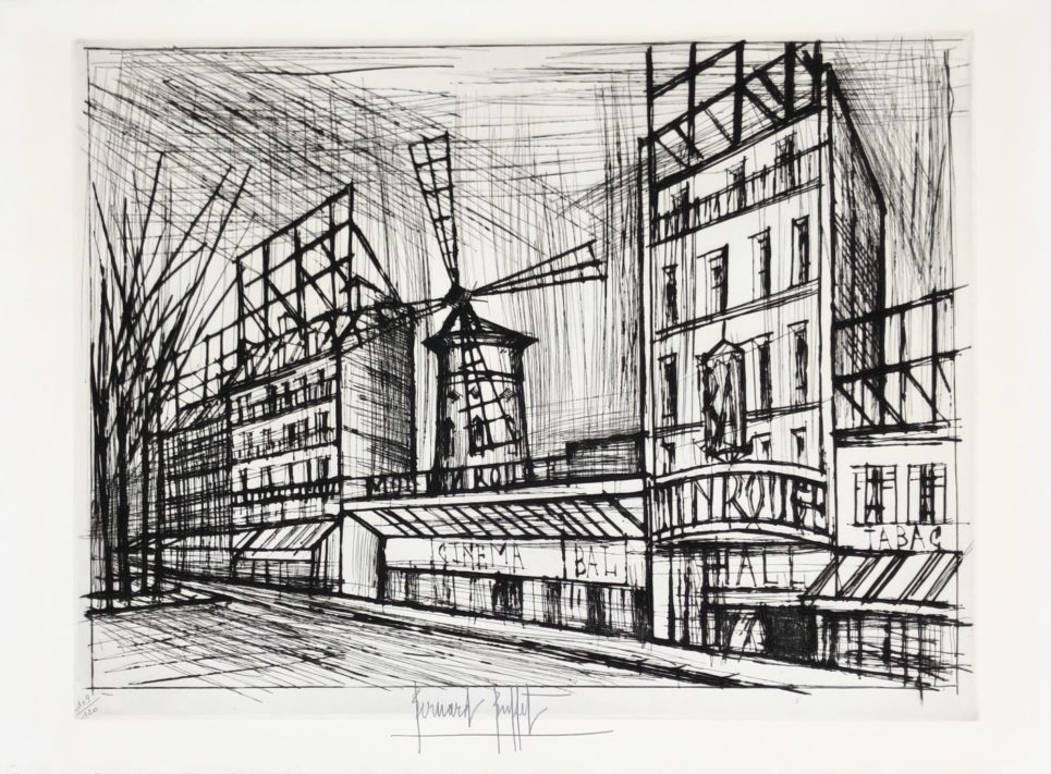 Bernard Buffet - Le Moulin Rouge