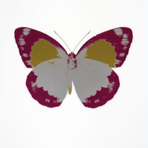 Damien Hirst The Souls II - Silver Gloss - Fuchsia Pink - Oriental Gold