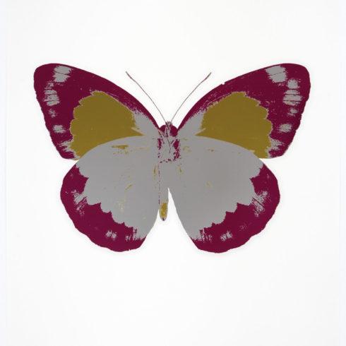 Damien Hirst - The Souls II - Silver Gloss - Fuchsia Pink - Oriental Gold