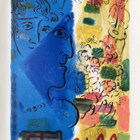 Blue Profile by Marc Chagall