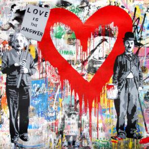 Mr. Brainwash - Juxtapose - Red Heart (56 x 86)