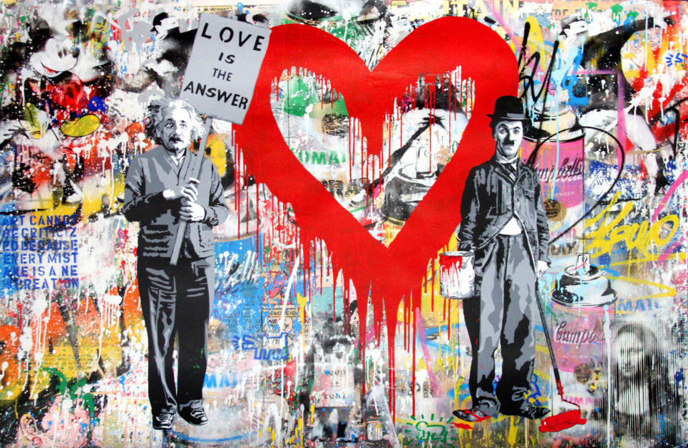 Mr. Brainwash - Juxtapose - Red Heart (56 x 86)
