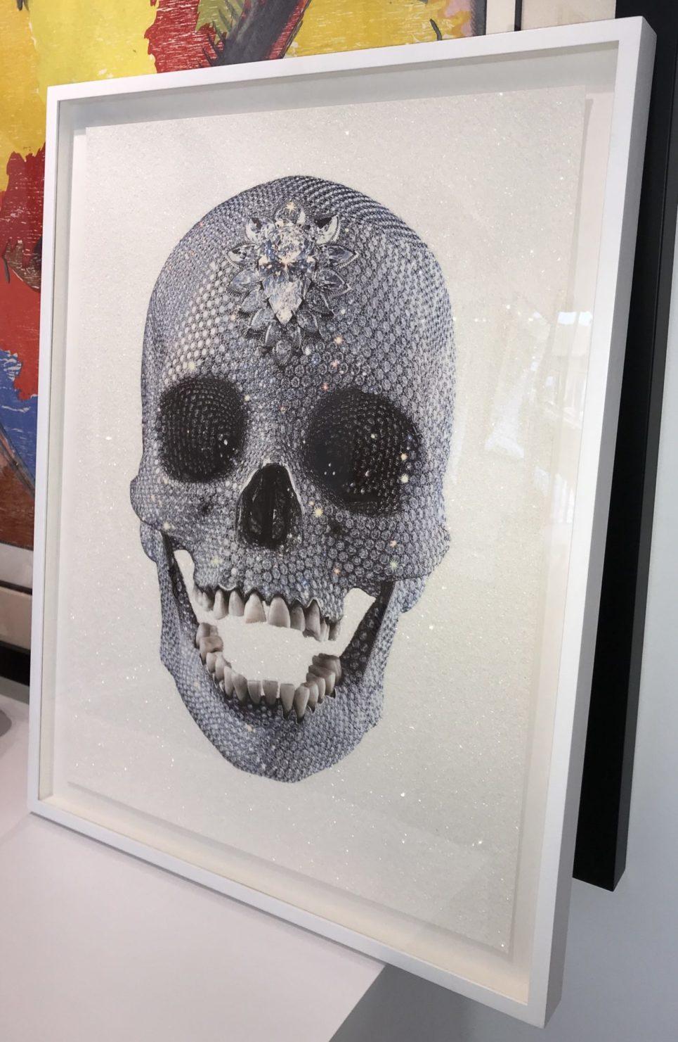 damien-hirst-for-the-love-of-god-white-framed