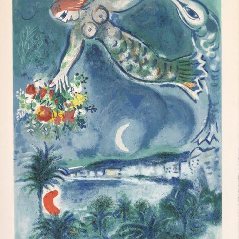 Marc Chagall - Sirène et Poisson