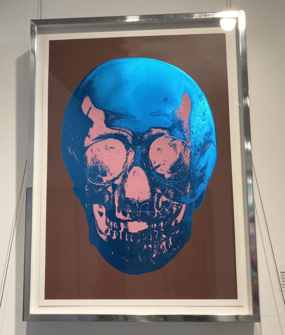 damien-hirst-till-death-do-us-part-brown-blue-pink-framed