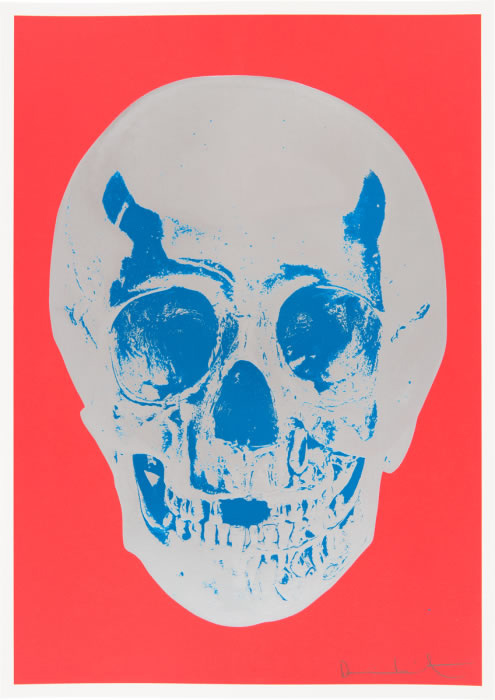 Damien Hirst - Till Death Do Us Part (Red/Silver/Blue)
