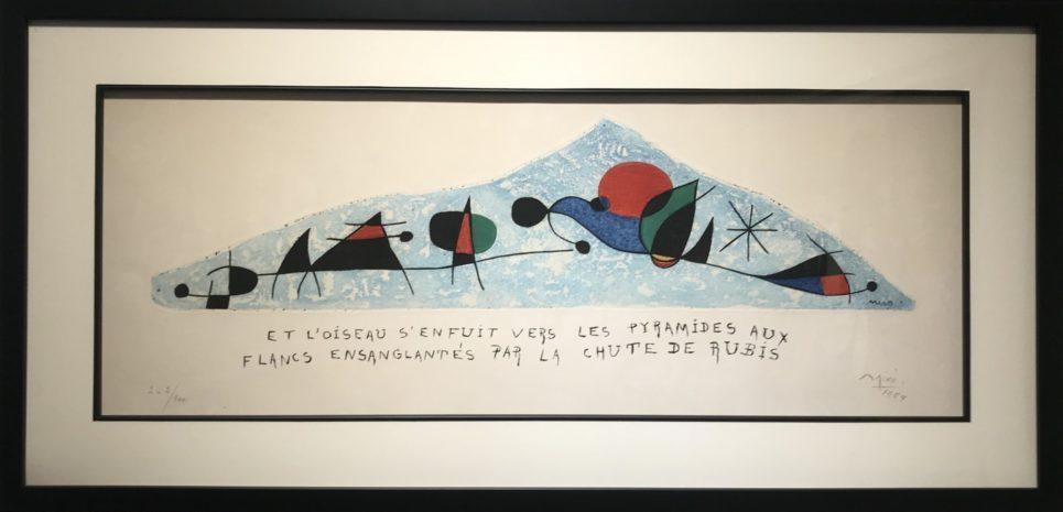Joan Miro - Et L'Oiseau S'Enfuit Vers Les Pyramides