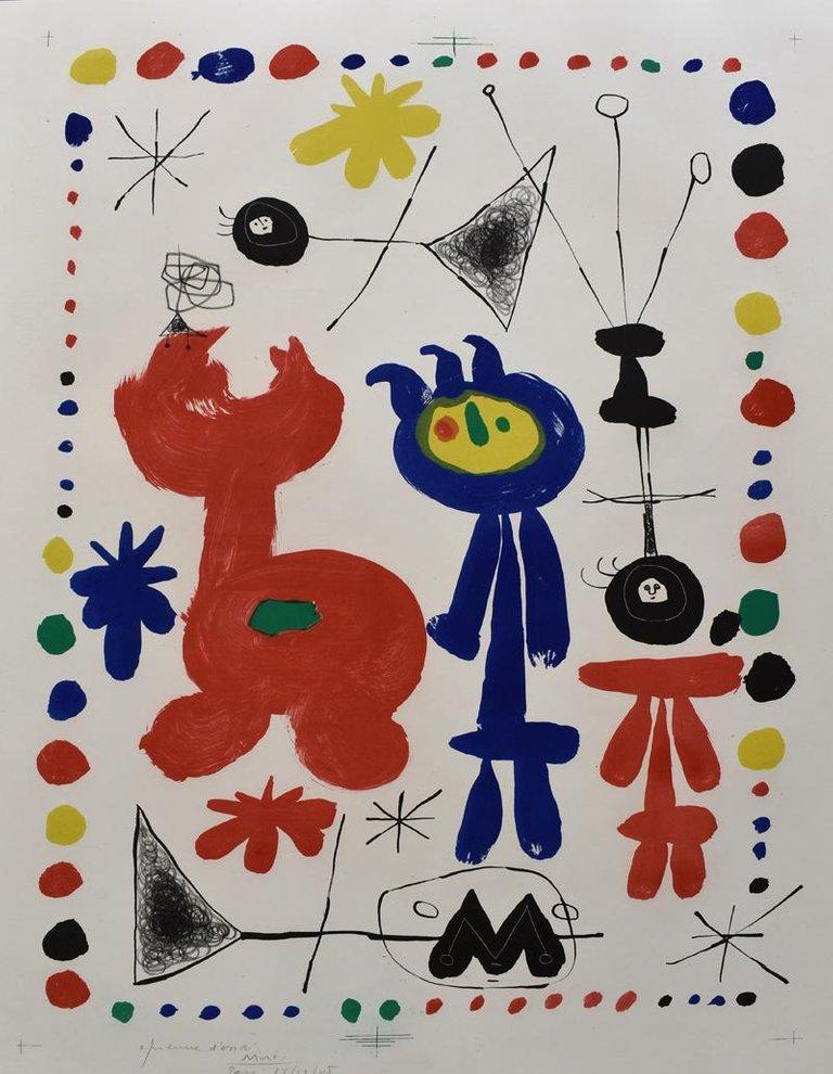 Joan Miro - Personnage et Oiseau