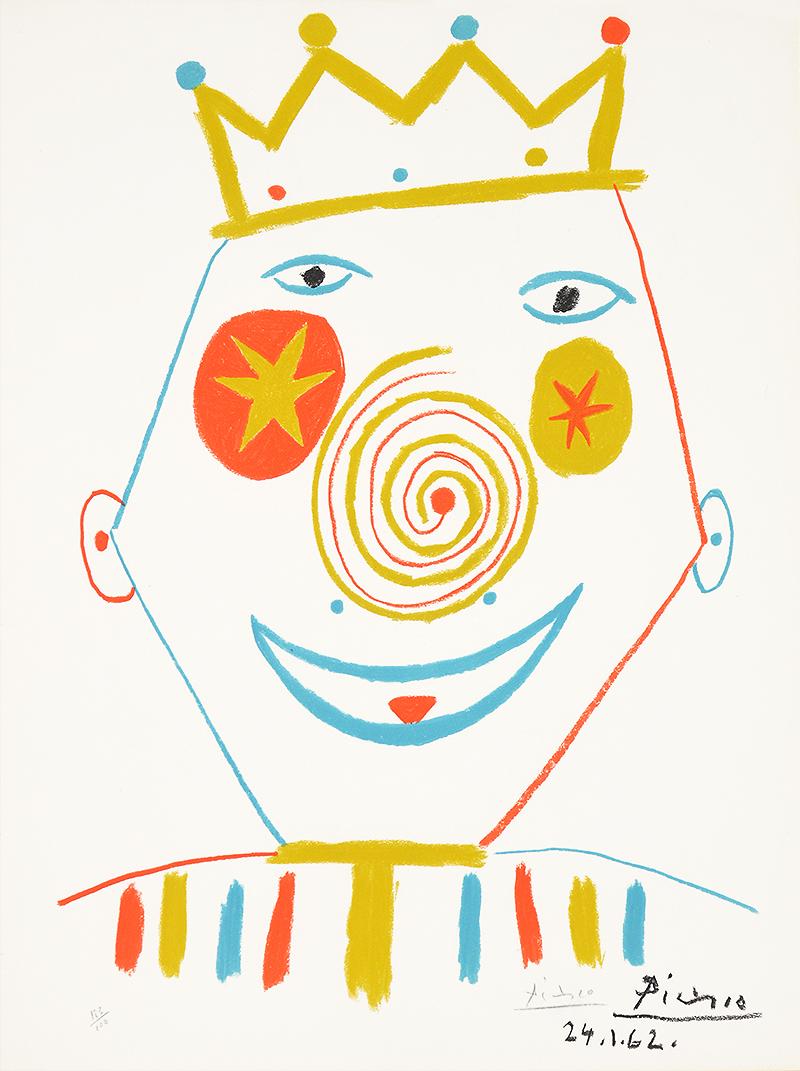 59b7ced2ee4 Pablo Picasso - Le Clowne (The Clown) - Denis Bloch Fine Art