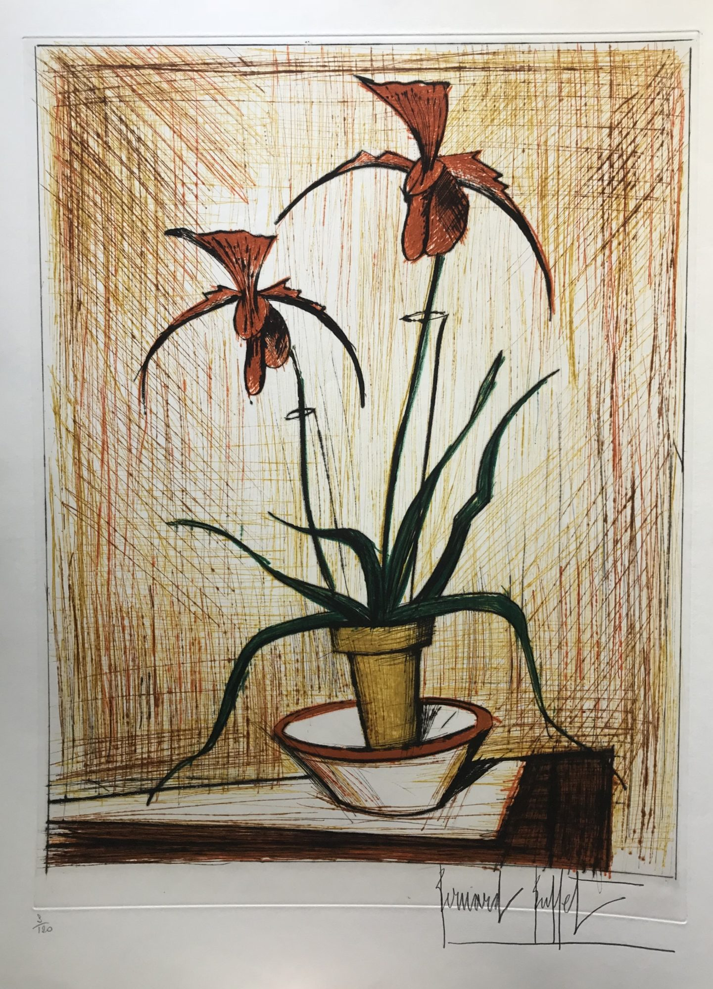 Fine Bernard Buffet Orchidees For Sale Denis Bloch Fine Art Download Free Architecture Designs Scobabritishbridgeorg