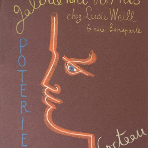 Jean Cocteau – Galerie Pont des Arts Poteries (Red)