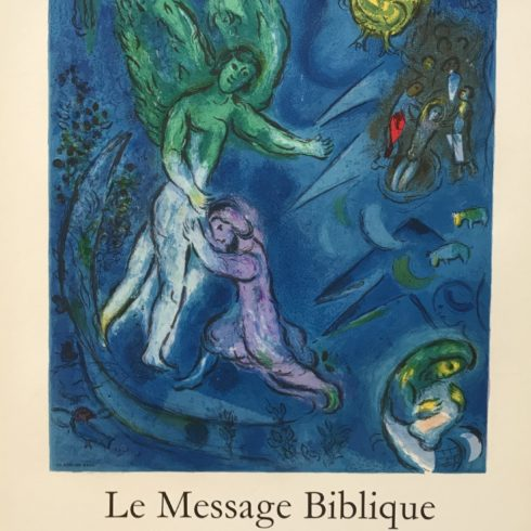 Marc Chagall - The Struggle of Jacob and the Angel
