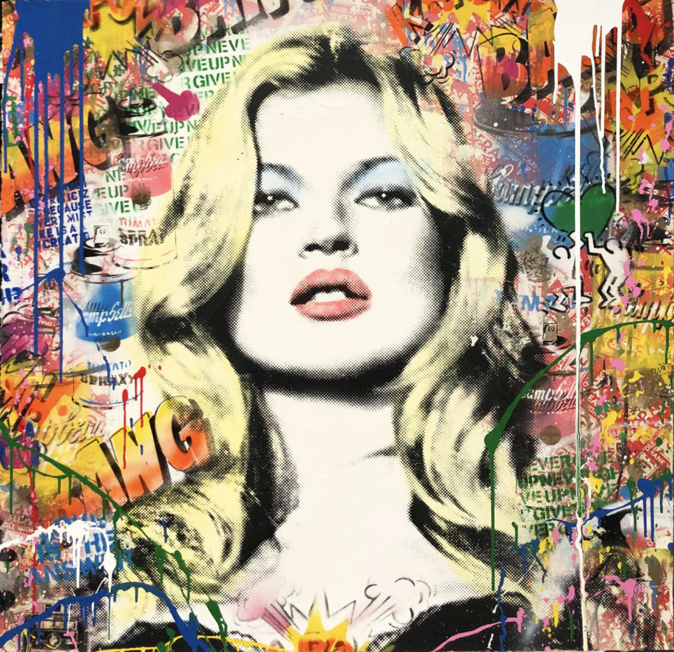 Mr. Brainwash - Kate Moss (42 x 42)
