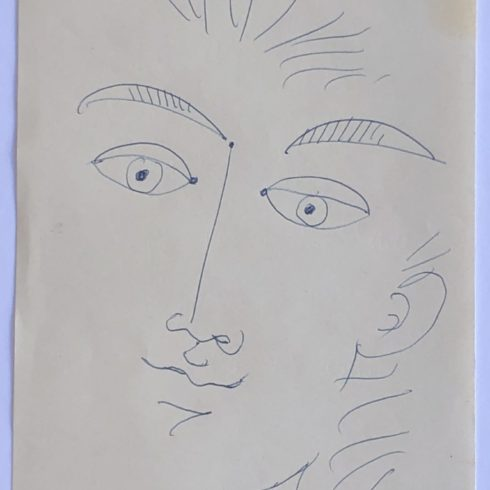 Jean Cocteau - Portrait of a Boy (Pen)