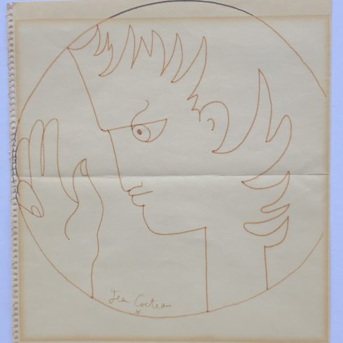 Jean Cocteau - Profile and Hand