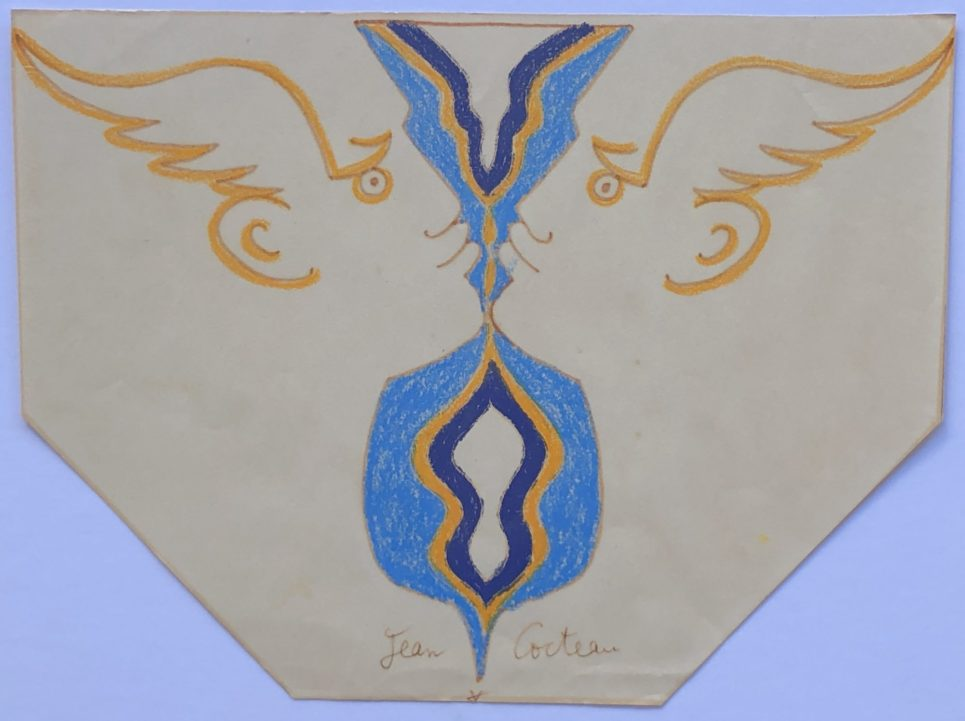 Jean Cocteau - Two Profiles with Wings