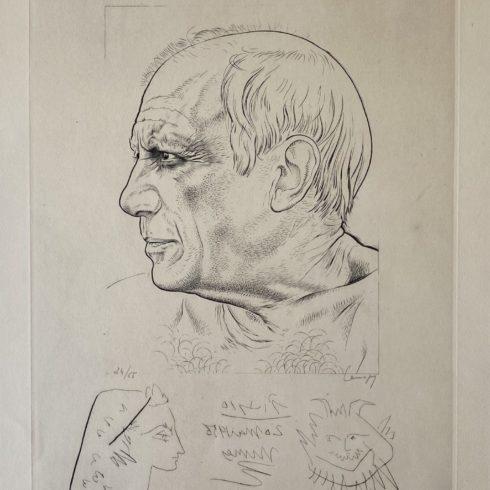 Pablo Picasso - Paul Lemagny - Portrait de Picasso