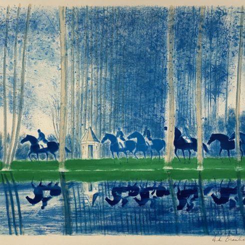 Andre Brasilier - Paysage en Bleu