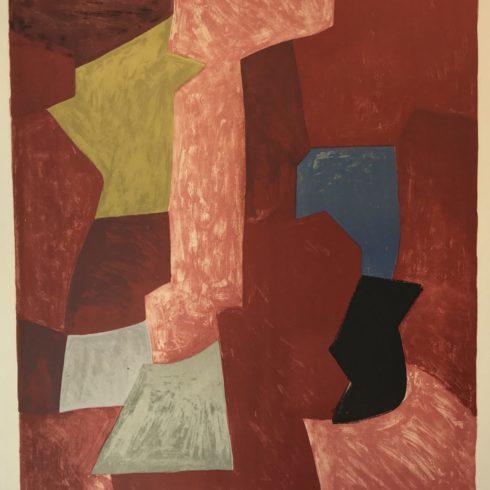 Serge Poliakoff - Composition rouge, jaune, et bleue