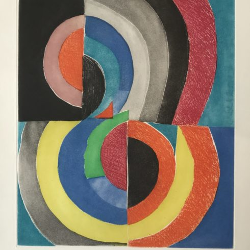 Sonia Delaunay - Composition with Semicircles