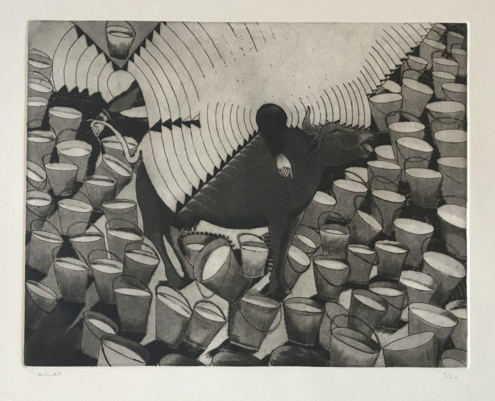 Francisco Toledo - Cow with Buckets of Milk