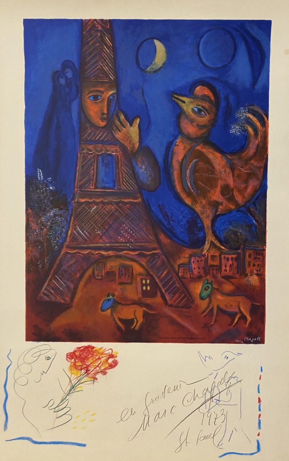 Marc Chagall - Bonjour Paris
