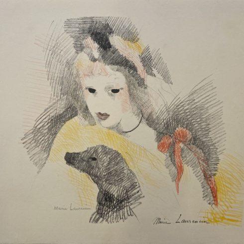 Marie Laurencin - Femme avec chien