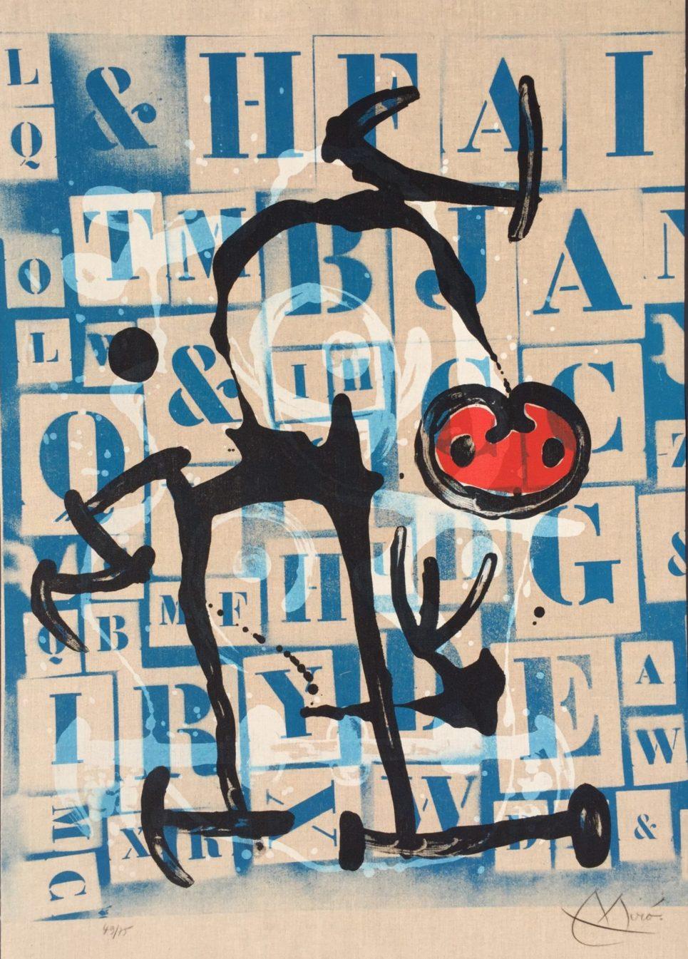 Joan Miro - Le Lettre Rouge