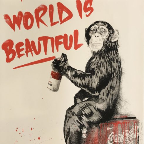 Mr. Brainwash - The World is Beautiful (Red)
